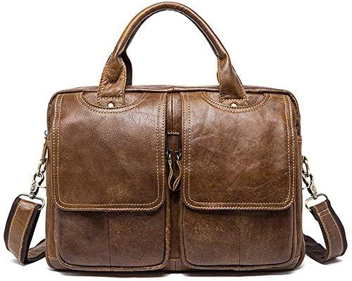 Elise portemonnee van leer voor heren, 13 inch (33 cm), draagbaar, schoudertas, grijs