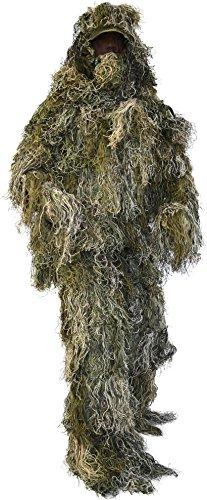Taktischer 'Ghillie Suit' Tarnanzug mit Jacke, Hose, Kopf- und Gewehrabdeckung Farbe Wood-Land Camo Größe M/L