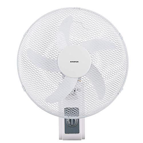 INFINITON VENTILADOR DE PARED WN-31W Blanco – 50W - 3 Velocidades – 5 Aspas – 40cm de Diametro – Oscilante - Motor de Aluminio – Silencioso - Temporizador