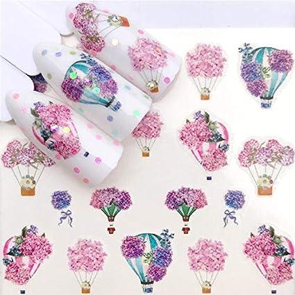 Amazon.com: 1 Sheets DIY Designer Water Transfer Tips Nail Art Pink Rose Flower Sticker Decals Women Beauty Wedding Nails,YZW-3234 : Beauty & Personal Care
