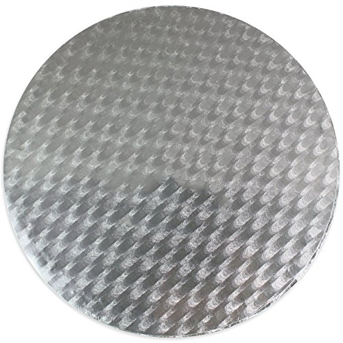 PME Runde Tortenplatte 30 cm, 11 mm dick, Kunststoff, Silber, 30 x 1.1 x 30 cm