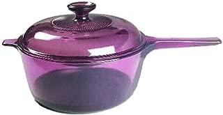 Corning Visions Visionware - Cranberry Tefton Non-Stick 2.5 Liter Sauce Pan w/Lid