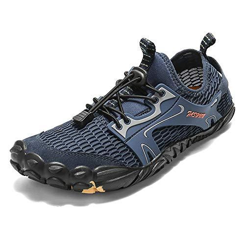 YLiansong-home Zapatos de Agua Tamaño Plus Masculino Cinco Dedos Zapatos de Ocio Upstream Escalada Zapatos del Agua para Nadar (Color : Blue, Tamaño : 41)