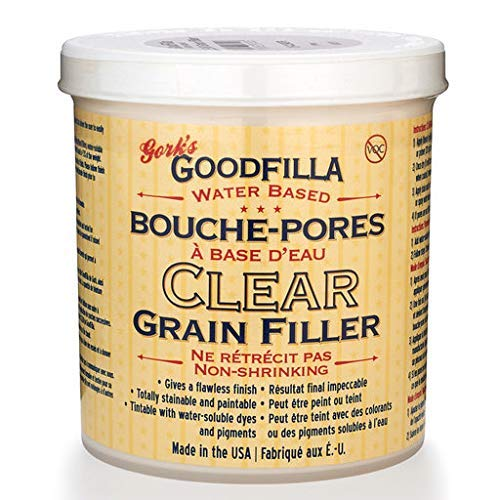 Clear Water-Based Grain & Pore Filler - 1 Pint by Goodfilla | Innovative & | Compliments All Woodworking Finishing Products | Paintable, Stainable, Sandable & Quick Drying