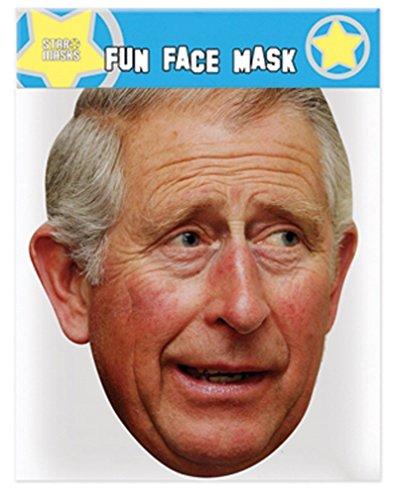The Royal Family Prinz Charles (Prince Charles) -Mitglied der britischen Königsfamilie - Gesichtsmasken aus steifen Karten