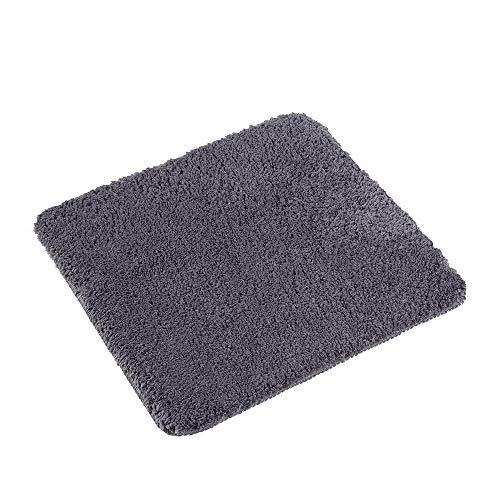 PANA Flauschiger WC Vorleger OHNE Ausschnitt | Badematte in versch. Farben und Größen | Badteppich aus weichen Mikrofasern - rutschfest & waschbar 45 x 45 cm