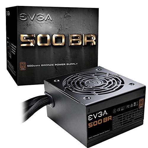 EVGA 500 BR, 80+ BRONZE 500W, garanzia 3 anni, alimentatore 100-BR-0500-K2 (UE)