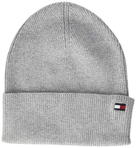 Tommy Hilfiger Damen Essential Knit Beanie Hut, Mid Grey Heather, OS