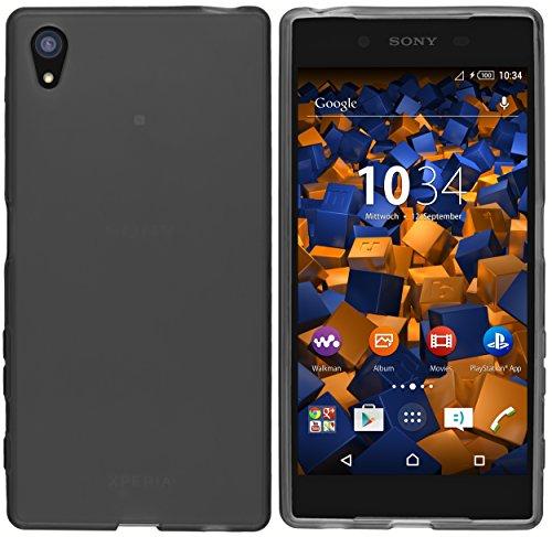 mumbi Hülle kompatibel mit Sony Xperia Z5 Handy Case Handyhülle, transparent schwarz