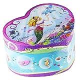 Dudubuy Musical Jewelry Box Heart Shaped Undersea Design Elise Tune(Mermaid)