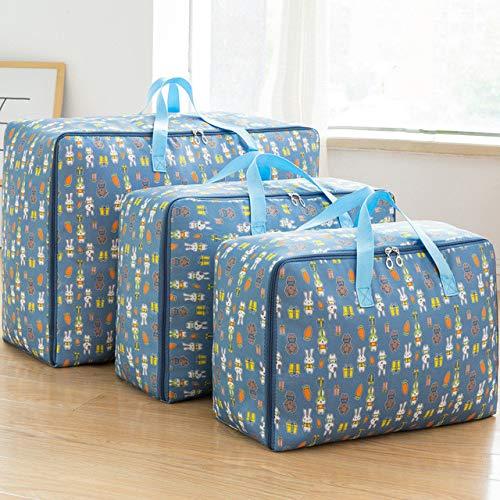 JBSC Duvet storage bagStorage bags 3pcs/set Storage Bag Oxford Fabric Moving Luggage Bag Waterproof Closet Organizer Storage Boxes M+L+XL Clothes Storage Container