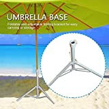 Paragüero de playa para sombrilla plegable con base de hierro cuadrada