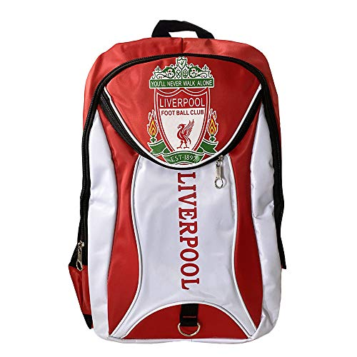 Football Club Lightweight Backpack for School, Durable Casual Daypack for Travel Outdoor (Liverpool, 16.9 x 11.8 x 7.9 in)