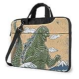 Godzilla Wave Laptop Bag Multi-Size Briefcase Shoulder Messenger Bag Water Repellent Laptop Bag Satchel Tablet Bussiness Carrying Handbag Laptop Sleeve for Women and Men