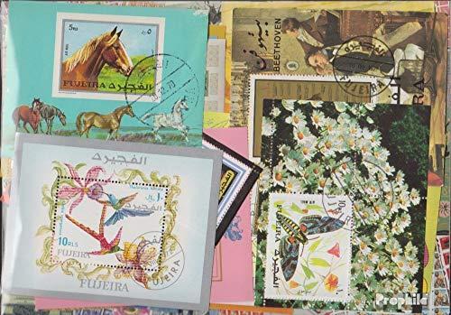 Prophila Collection Fujeira 50 Diversi Blocchi e Minifoglio (Francobolli per i Collezionisti)