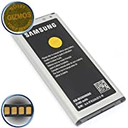 GLITZY GIZMOS 100% NEW GENUINE ORIGINAL AUTHENTIC SAMSUNG BATTERY EB-BG800BBE NFC TECHNOLOGY (4 GOLD PINS / TERMINALS) 2100 mAh 3.85V Li-ion 8.09Wh (CHARGE VOLTAGE 4.4V) FOR SAMSUNG GALAXY S5 MINI SM-G800F/H (NON - RETAIL PACKAGING - BULK PACKED)