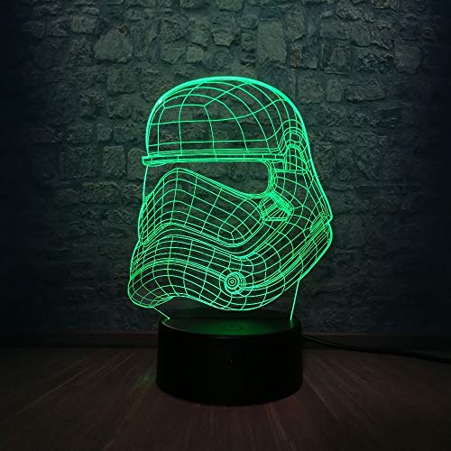 Nachtlicht 3d, Schlaflampe, 3D Nachtlicht 7 Farbwechsel Schlafzimmer Dekor Schreibtisch Tisch LED Lampe Weihnachtsgeschenk USB-Basisschalter