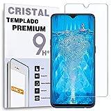 REY - Protector de Pantalla para OPPO F9 - OPPO F9 Pro, Cristal Vidrio Templado Premium