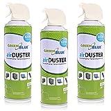 Green Blue GB400 Druckluft Spray 3 x 400ml Air Duster Reinigung Druckluftspray Druckluftreiniger Pressluft Computer Reiniger