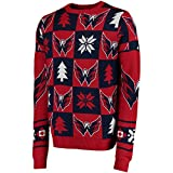 NHL WASHINGTON CAPITALS Ugly Sweater Pullover Christmas Weihnachtspullover Patches -