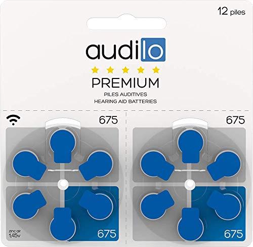 bon comparatif 120 piles pour aides auditives Audilo 675 (bleu) PR44 / grande capacité / jusqu'à 4 durabilité… un avis de 2021