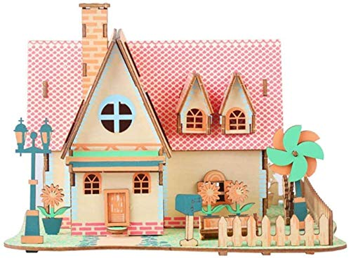 Taoke Toy S Puzzle Assembled Haus 3D Holz Simulation Gebäudemodell Handgefertigte Holzhaus DIY Lernspielzeug 8bayfa