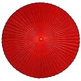 PARASOL Red Classical DIY Japanese Oil Paper Umbrella-Hand-Made Garden Umbrella (35mm Bamboo Umbrella Pole) Portable, 4.7ft/5.5ft/6.5ft