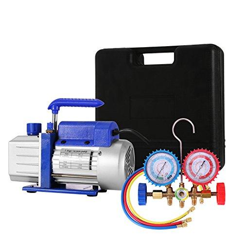 Mophorn Bomba de Vacío, 3-4 - 4.8CFM Sistemas de Refrigeración, Bomba de Vacío para Aire Acondicionado, 220V Aire Acondicionado Eléctrico para Coche (4CFM1)