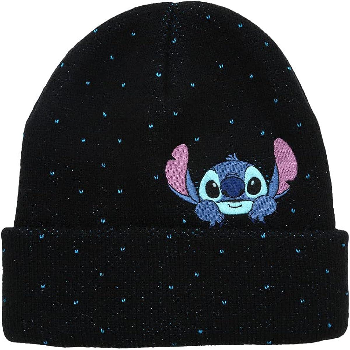 Disney Lilo & Stitch Glitter Stitch Peeking Beanie Multi One Size
