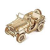Car Madera Maquetas para Construir Montar Set de Construcción Puzzle 3D para niños y Adultos (Army Jeep),Educativo Rompecabezas for niños Hijos de Bricolaje 369 Piezas