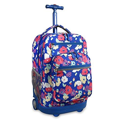 J World New York Sundance Laptop Rolling Backpack Backpack, PETALS