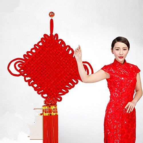 XICHENGSHIDAI Chine Nœud Festive Chine Nœud Pendentif Home Office Feng Shui décoratifs Craft Cadeau, XXXL