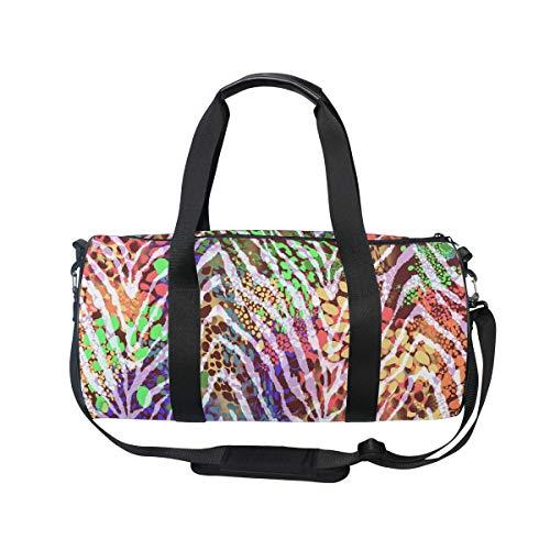 MNSRUU Reisetasche, bunt, Zebramuster, groß, für Reisen, für große Gepäckstücke, Sporttasche