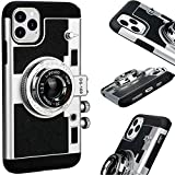 New Emily In Paris Phone Case Vintage Camera, per iPhone 11/12 PRO MAX (Nero, Per iPhone 11)