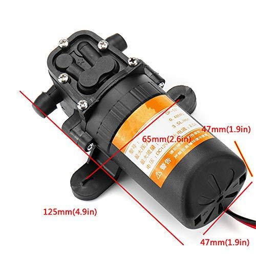 12V 70PSI 3.5L, min Agricultural elektrische waterpomp Black Micro High Pressure Diafragma Water pomp van de veldspuit Car Wash 12 V,Black
