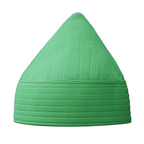 TheKufi Green Semi-Rigid Soft Handcrafted Tall Naqshbandi Tariqah Sufi Muslim Nakshibendi Kufi Hat (L)
