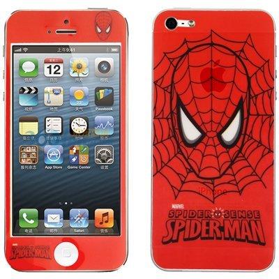 Digital Bay Srl Sticker adesivo fronte retro per vestire iphone 5 tema uomo-ragno