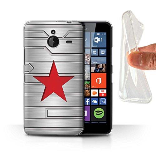Hülle Für Microsoft Lumia 640 XL Antiheld Comic-Kunst Winter Soldier Inspiriert Design Transparent Dünn Weich Silikon Gel/TPU Schutz Handyhülle Case