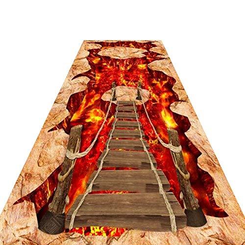 CAIJUN Tapis Couloir Coureur Stéréo 3D Style Exotique Fait sur Mesure Facile À Nettoyer Antidérapant Extra Long Vivant Tapis De La Salle, 48 Tailles (Taille : 1.2x7m)