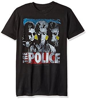 Liquid Blue Men s The Police Greatest Hits Short Sleeve T-Shirt Black Large