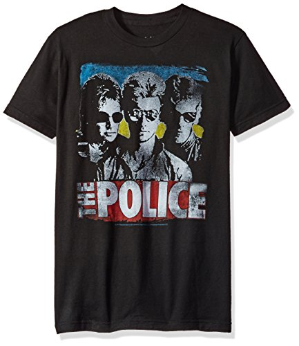Liquid Blue Herren The Police Greatest Hits Short Sleeve T-Shirt, schwarz, Mittel