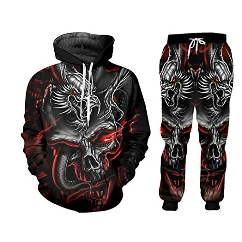 Taiernafi 3D Jackets Men Tracksuit Sets Mens Set Skull Men Casual Zipper Set Autumn Tracksuit Set HSPA00892 4XL