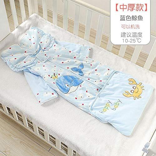 Unisex baby inbakerdekens, herfst- en winterbaby anti-kick-quilts, baby-quilts-Violet_130 yards 1-5 jaar, pasgeboren baby dikke warme slaapzak