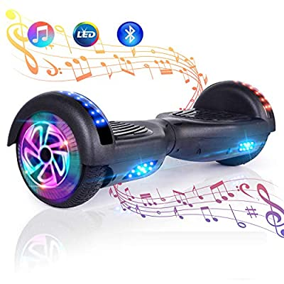 "JOLEGE Self Balancing Hoverboard, 6.5"" Two-Wheel Self Balancing Flash Wheel Electric Scooter for Kids - UL2272 Certified"