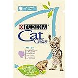 Purina Cat Chow Comida para Gato Junior, Gatito con Pavo 24 x 85 g - 1 Pack