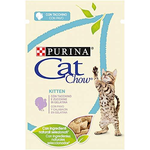 Purina Cat Chow Comida Húmeda para Gatos Esterilizado con Pavo, 26 x 85 gr 🔥