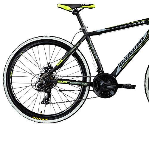 Galano 26 Zoll Toxic Mountainbike Hardtail MTB Jugendmountainbike Jugendfahrrad (schwarz/grün, 46 cm) - 4