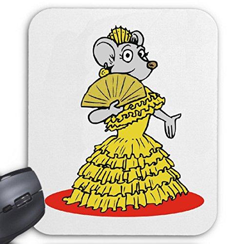 Reifen-Markt Tapis de Souris (Mousepad) la Souris en Robe de Flamenco Cartoon Animations Fun Film série DVD Le pour Les Amis - des Connaissances ou des collègues de Travail pour Votre ordinat