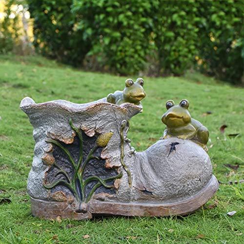 Outdoor Polyresin Schildkröte Pflanzer Statue Blumentopf,Cartoon Tier Blumentopf Zu Balkon Startseite Rasen Dekoration Und Geschenk F 37x21x26cm