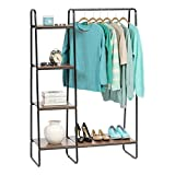 IRIS USA 596240 Metal Garment Rack with Wood...
